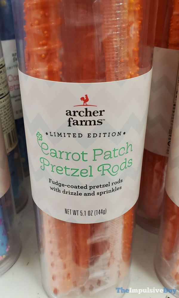 Archer Farms Limited Edition Carrot Patch Pretzel Rods