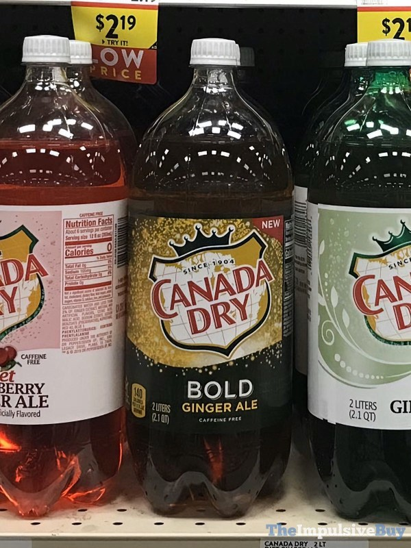 Canada Dry Bold Ginger Ale 2 Liter