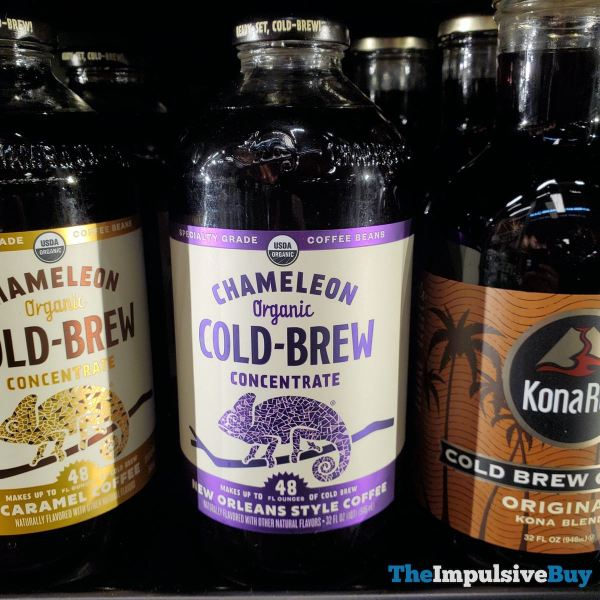 Chameleon Organic Cold Brew Concentrate New Orleans Style Coffee
