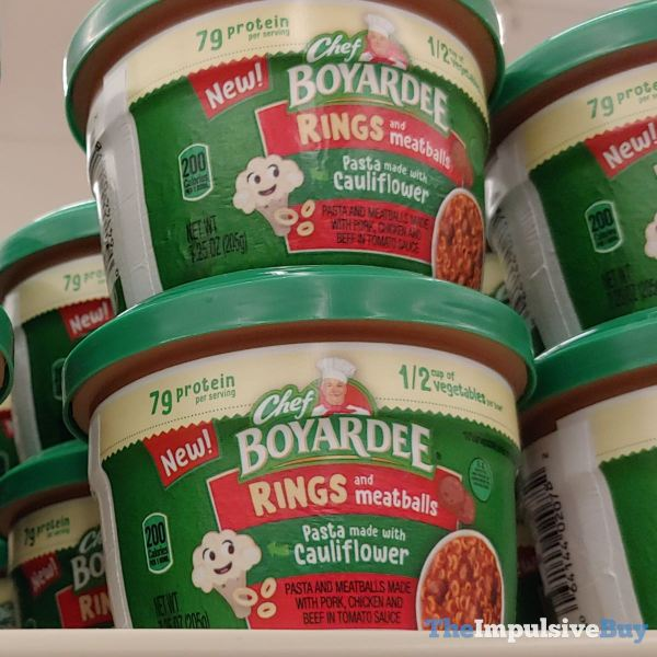 Chef Boyardee Rings and Meatballs Pasta made with Caulifllower