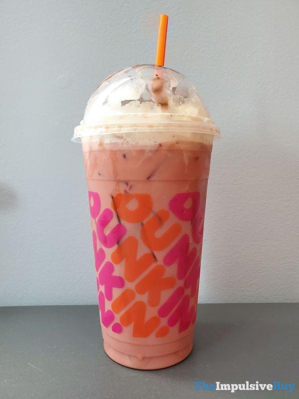 Dunkin Pink Velvet Signature Latte