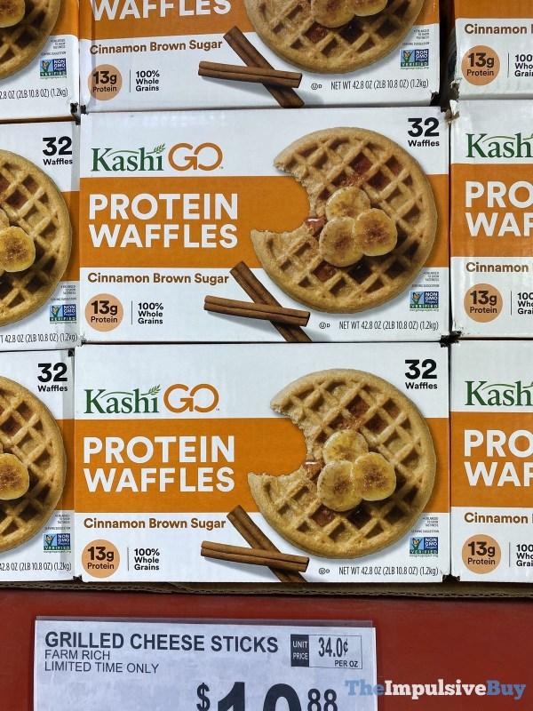 Kashi Go Cinnamon Brown Sugar Protein Waffles