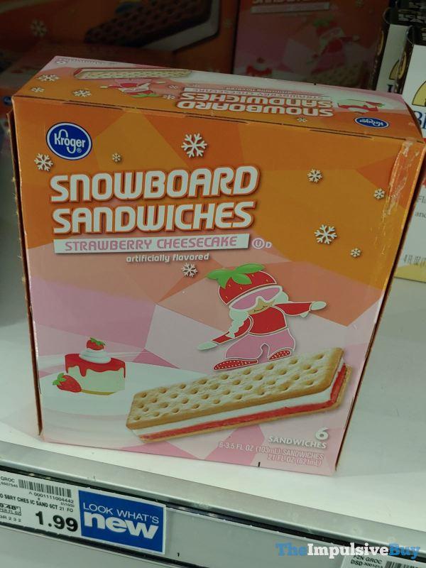 Kroger Strawberry Cheesecake Snowboard Sandwiches