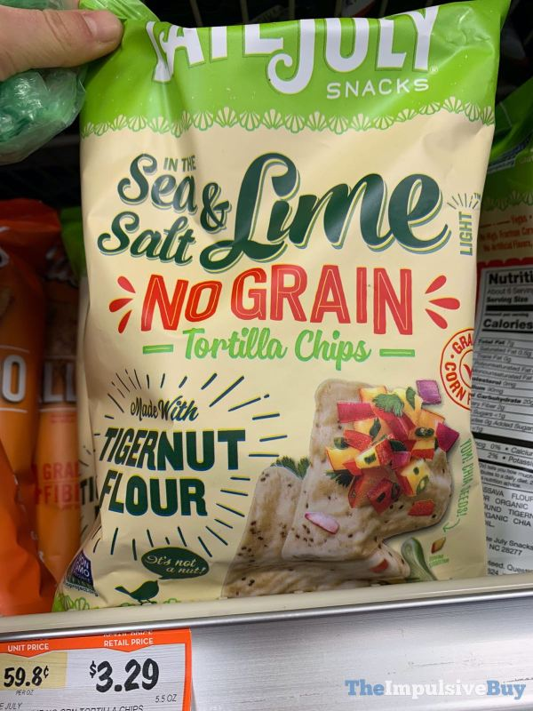 Late July Snacks Sea Salt  Lime No Grain Tortilla Chips made with Tigernut Flour