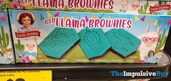 Little Debbie Iced Llama Brownies