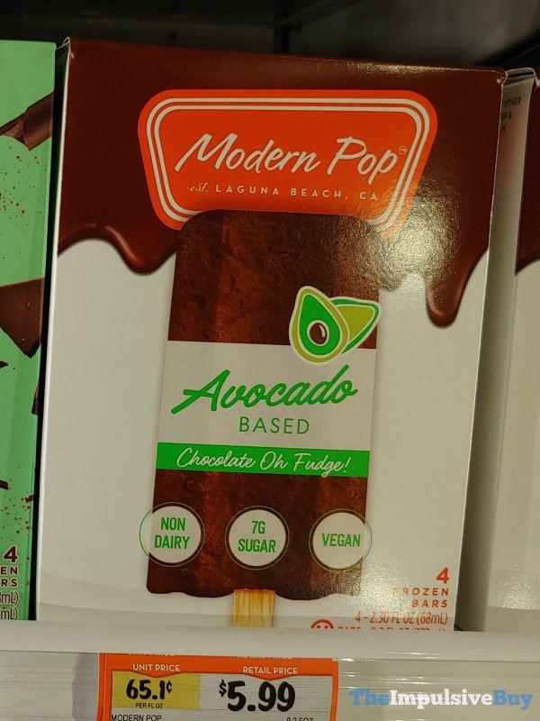 Modern Pop Avocado Based Chocolate Oh Fudge  Frozen Dessert Bars