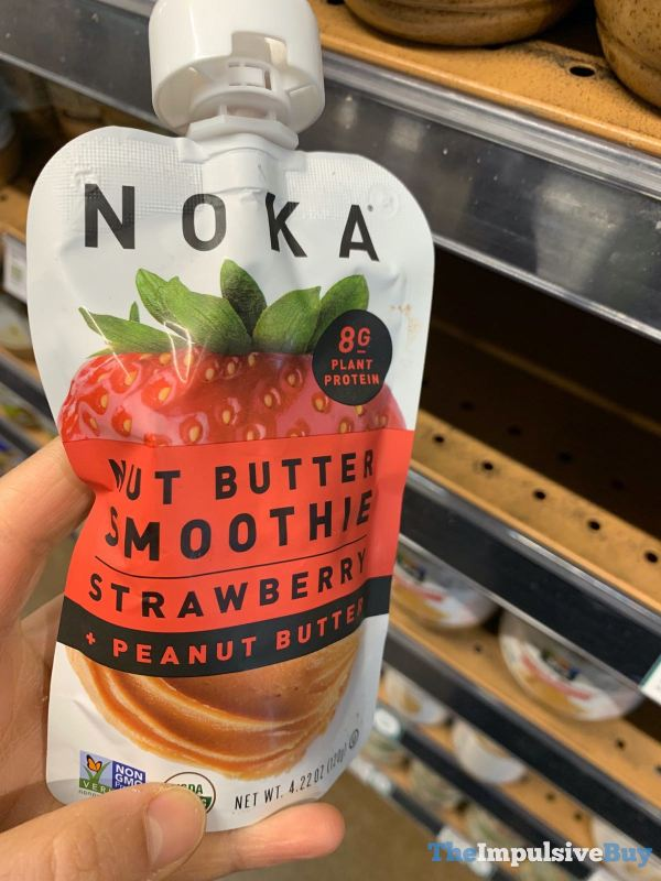 Noka Strawberry + Peanut Butter Nut Butter Smoothie