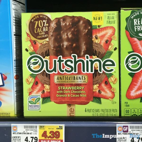 Outshine Antioxidants Strawberry with Dark Chocolate Granola  Cacao Nibs