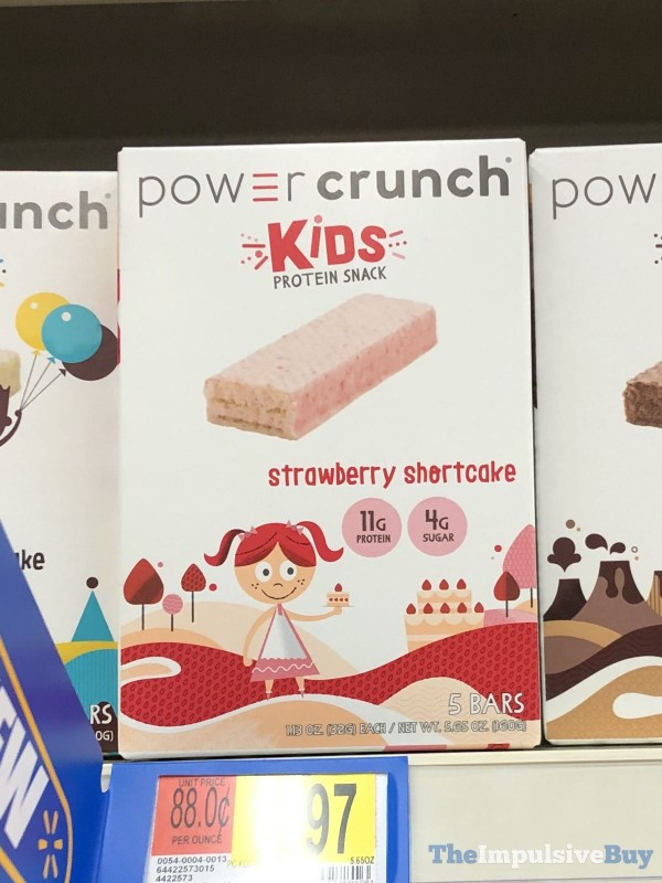 Power Crunch Kids Protein Snack Strawberry Shortcake