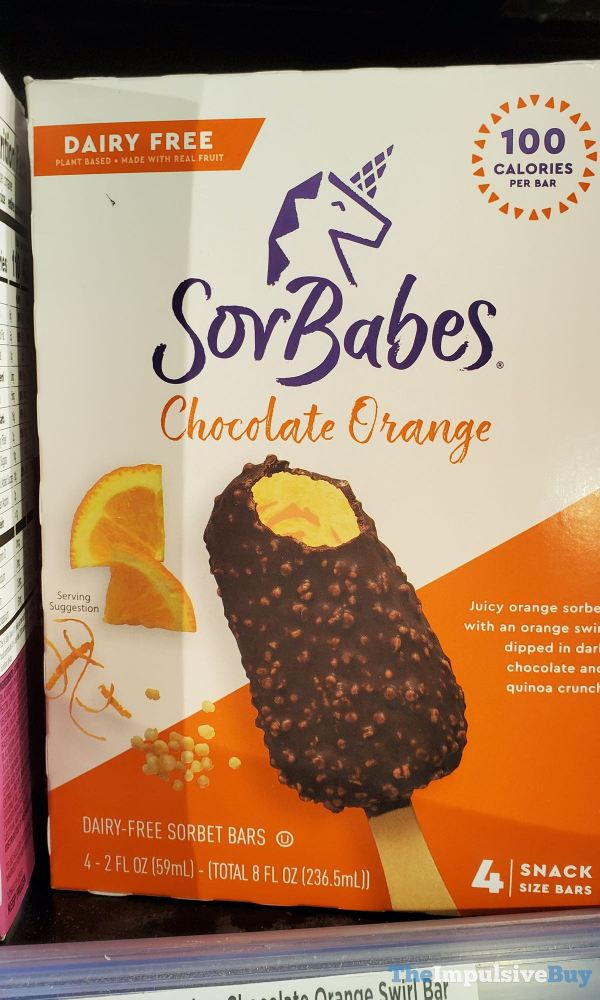 SorBabes Chocolate Orange Dairy Free Sorbet Bars