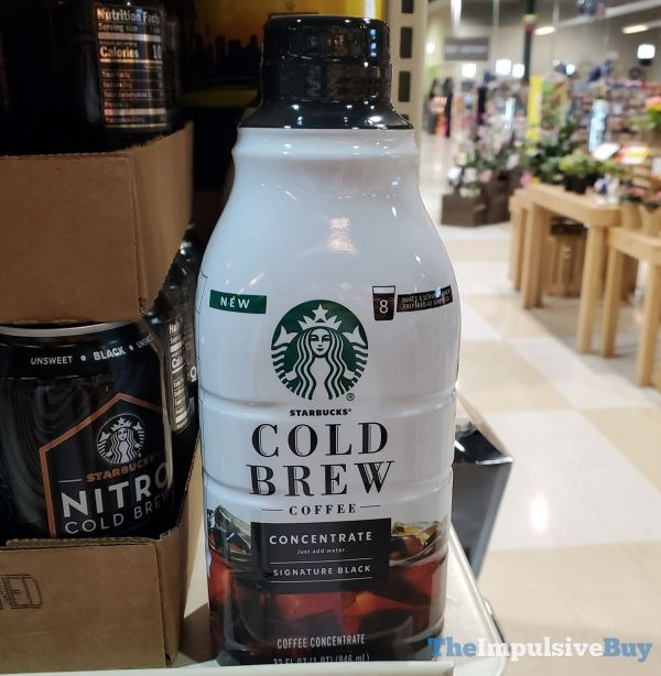 Starbucks Cold Brew Coffee Concentrate Signature Black