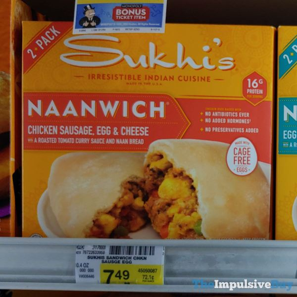 Sukhi s Naanwich Chicken Sausage Egg  Cheese