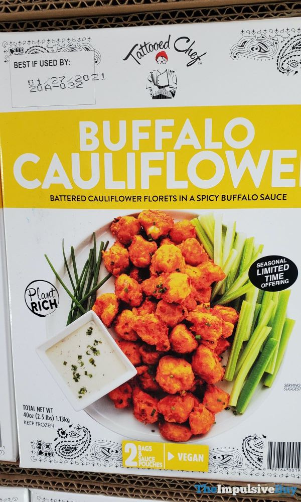 Tattooed Chef Buffalo Cauliflower