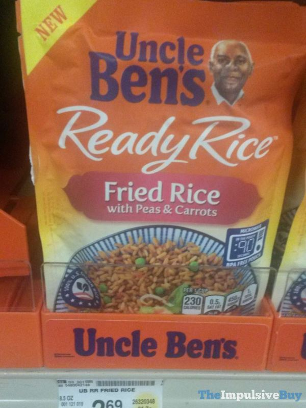 Uncle Ben s Ready Rice Fried Rice with Peas  Carrots
