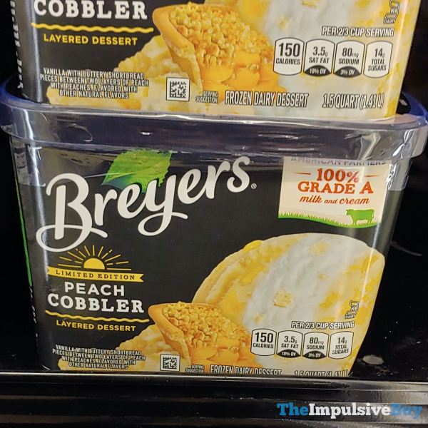 Breyers Limited Edition Peach Cobbler Layered Dessert