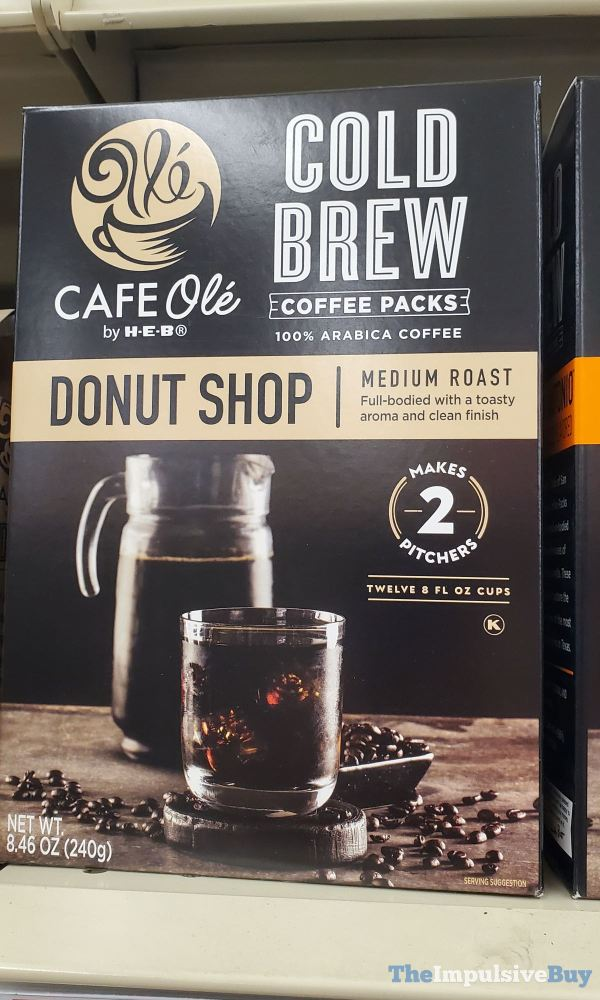 Cafe Ole by H E B Donut Shop Cold Brew Coffee Packs
