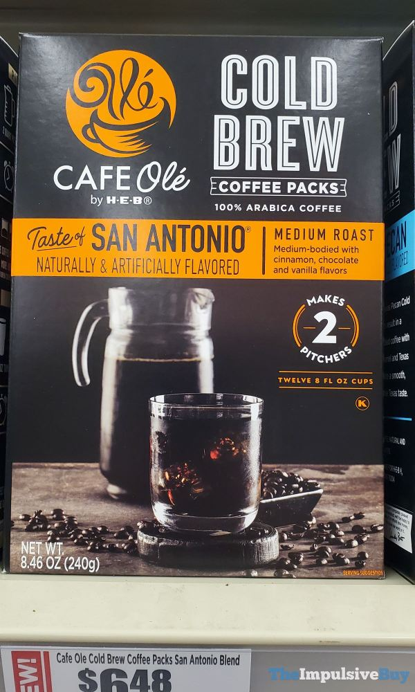 Cafe Ole by H E B Taste of San Antonio Cold Brew Coffee Packs
