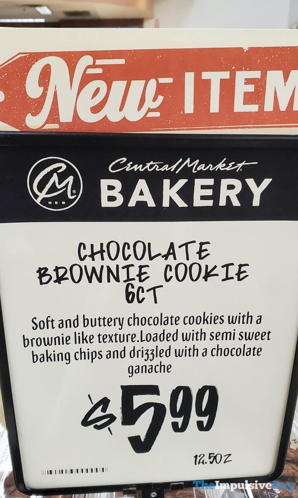 Central Market Chocolate Brownie Cookie Sign