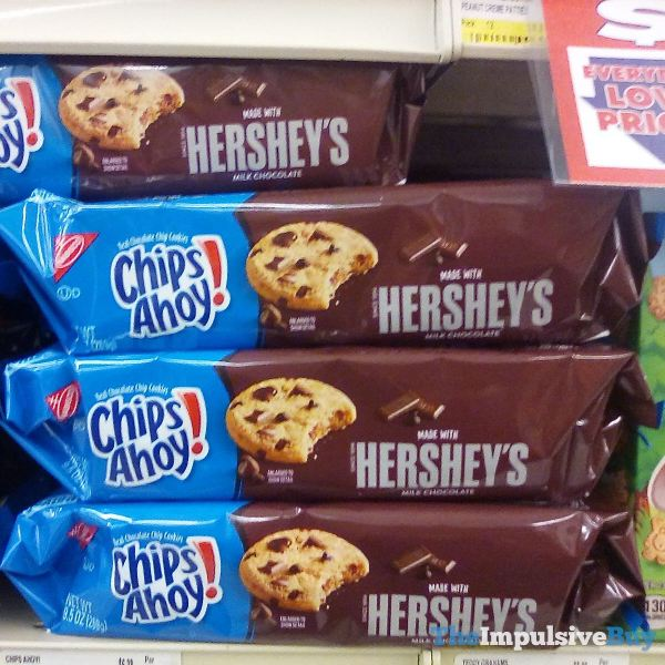 Chips Ahoy Made with Hershey s Milk Chocolate Cookies