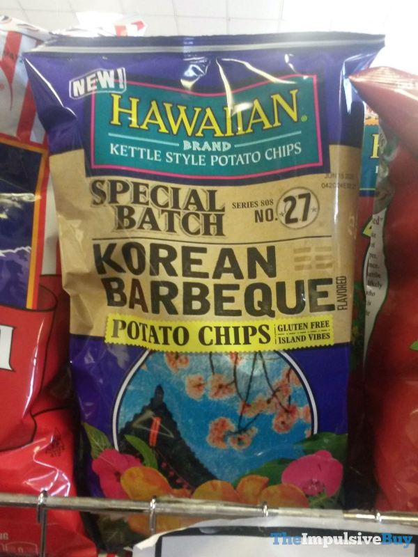 Hawaiian Brand Special Batch No 27 Korean Barbecue Potato Chips