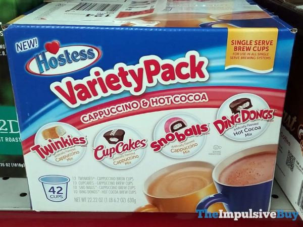 Hostess Cappuccino  Hot Cocoa Single Serve Brew Cups Variety Pack