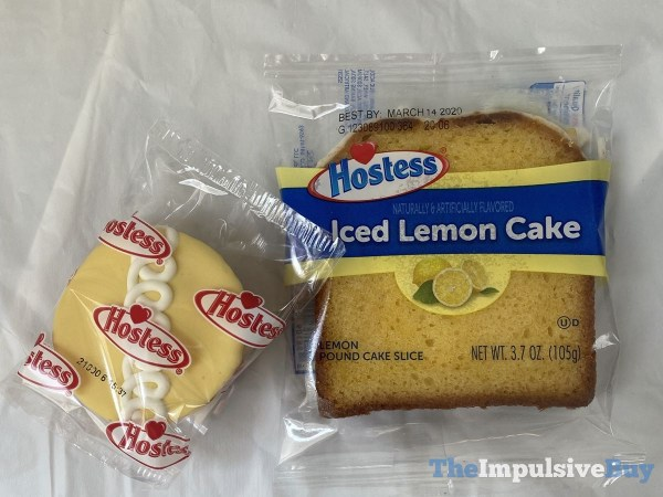 Hostess Limited Edition Iced Lemon CupCakes with Hostess Ice