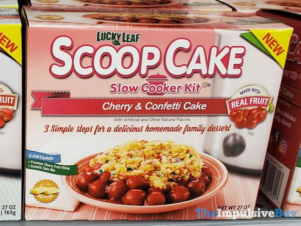 Lucky Leaf Cherry  Confetti Scoop Cake Slow Cooker Kit