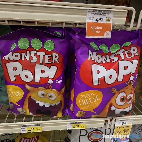 Monster Pop Popcorn  Big Time Butter and Cheeseriffic Cheese