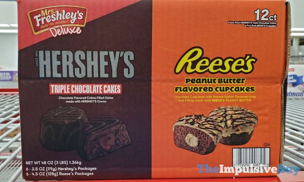 Mrs Freshley s Deluxe Hershey s Triple Chocolate Cakes and Reese s Peanut Butter Cupcakes