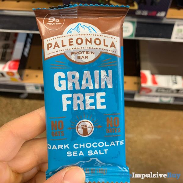 Paleonola Dark Chocolate Sea Salt Grain Free Protein Bar