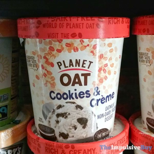 Planet Oat Cookie  Cream Oatmilk Non Dairy Frozen Dessert