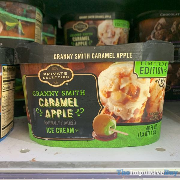 Private Selection Limited Edition Granny Smith Caramel Apple Ice Cream