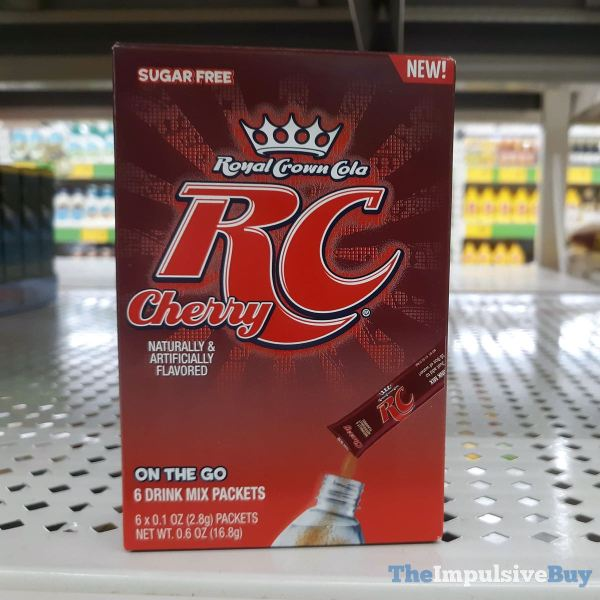 RC Cherry On The Go Drink Mix Packets