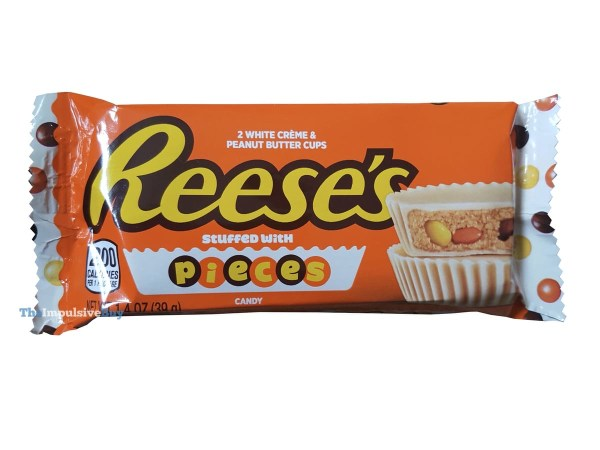 Reese s White Creme Peanut Butter Cups Stuffed with Reese s Pieces