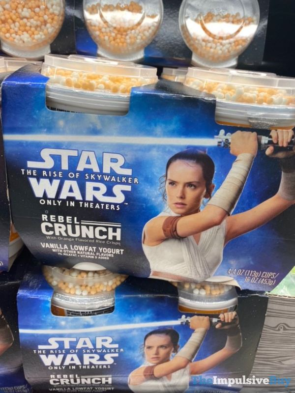 Star Wars The Rise of Skywalker Rebel Crunch Vanilla Lowfat Yogurt