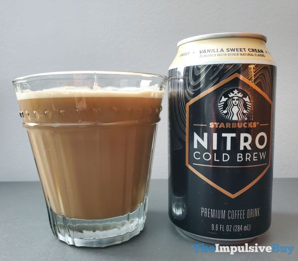 Starbucks Canned Nitro Cold Brew Vanilla Sweet Cream