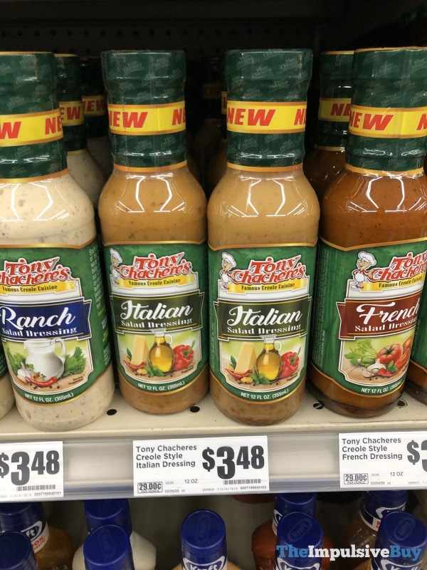Tony Chachere s Ranch Italian and French Salad Dressings