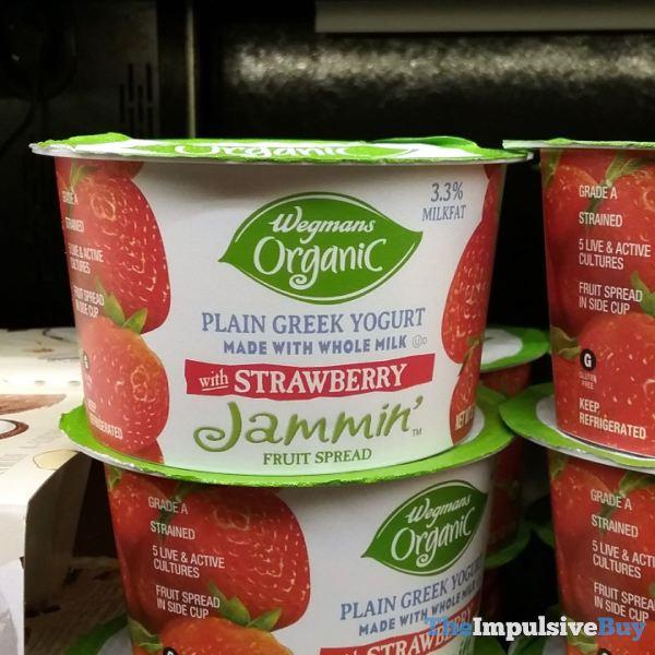 Wegmans Organic Greek Yogurt with Strawberry Jammin Fruit Spread