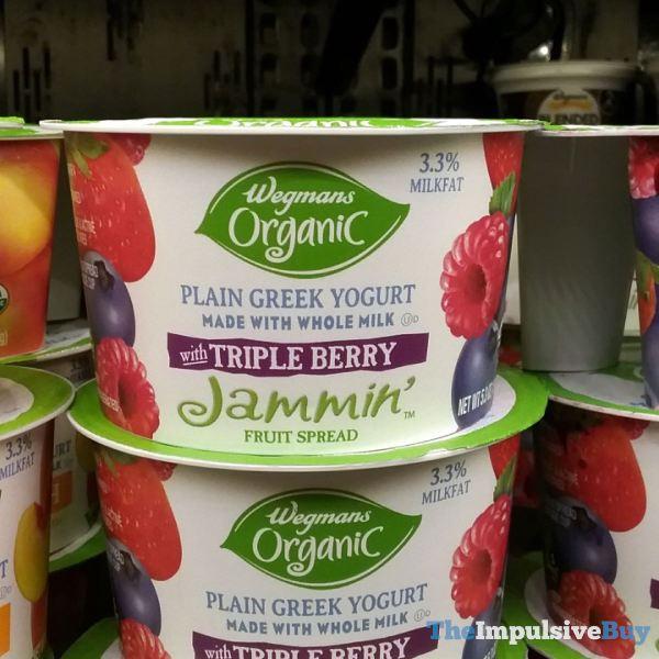 Wegmans Organic Greek Yogurtwith Triple Berry Jammin Fruit Spread