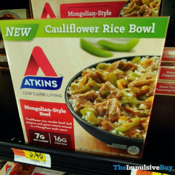 Atkins Mongolian Style Beef Cauliflower Rice Bowl
