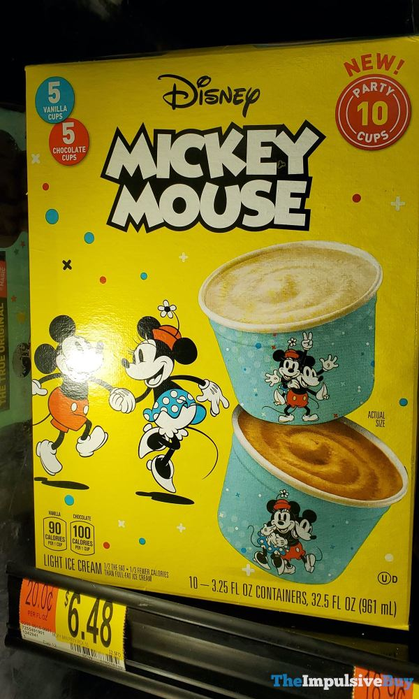 Disney Mickey Mouse Light Ice Cream Party Cups