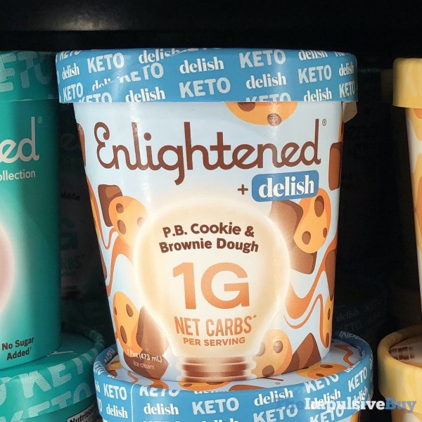 Enlightened + Delish P B Cookie  Brownie Dough Keto Ice Cream