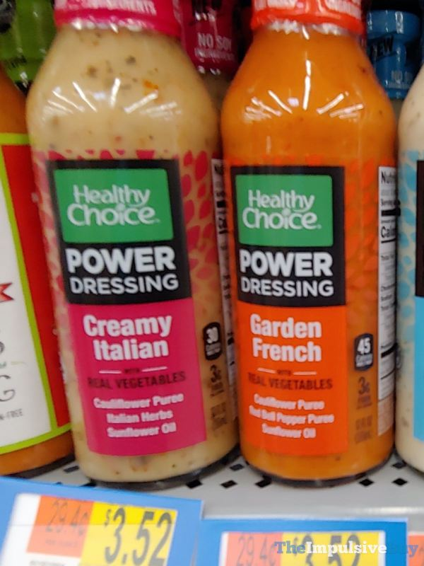 Healthy Choice Power Dressing  Creamy Italian and Garden French