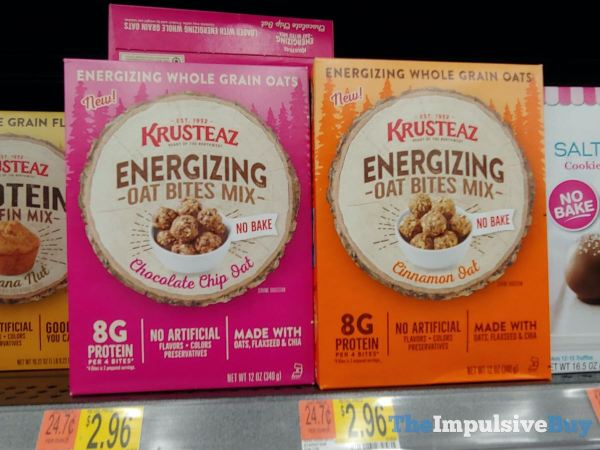 Krusteaz Energizing Oat Bites Mix  Chocolate Chip Oat and Cinnamon Oat