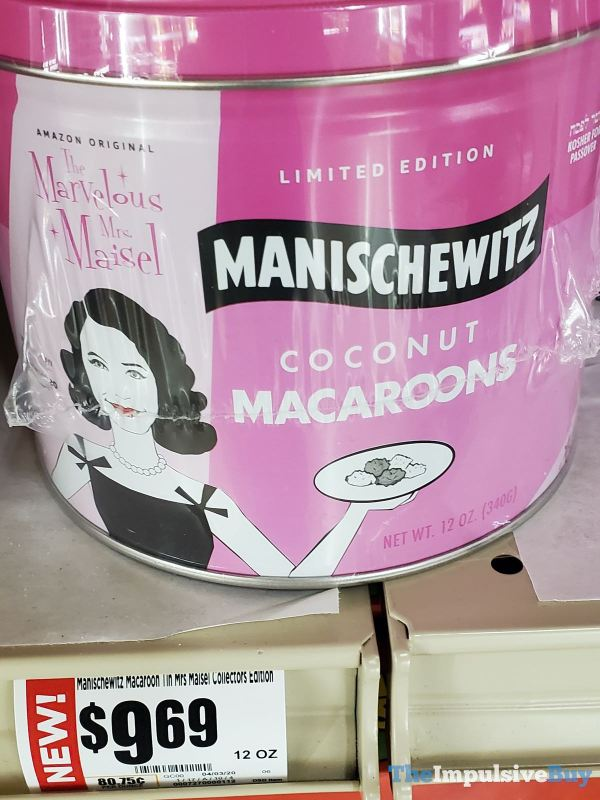 Limited Edition The Marvelous Mrs Maisel Manischewitz Coconut Macaroons