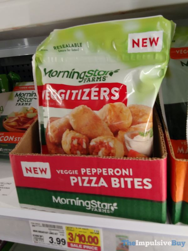 Morningstar Farms Veggitizers Veggie Pepperoni Pizza Bites