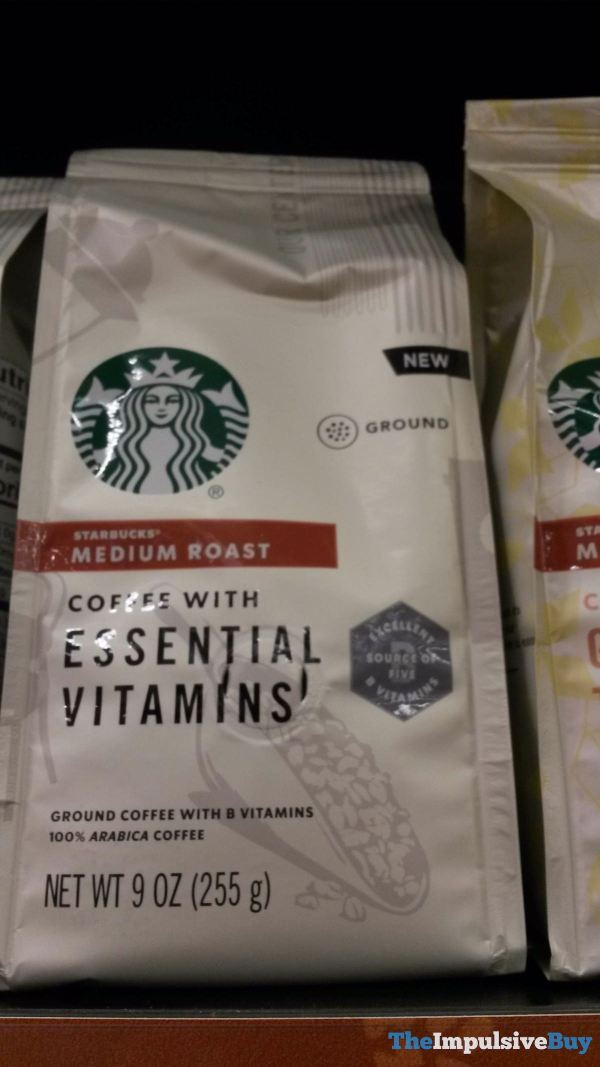 Starbucks Medium Roast Coffee with Essential Vitamins Ground Coffee