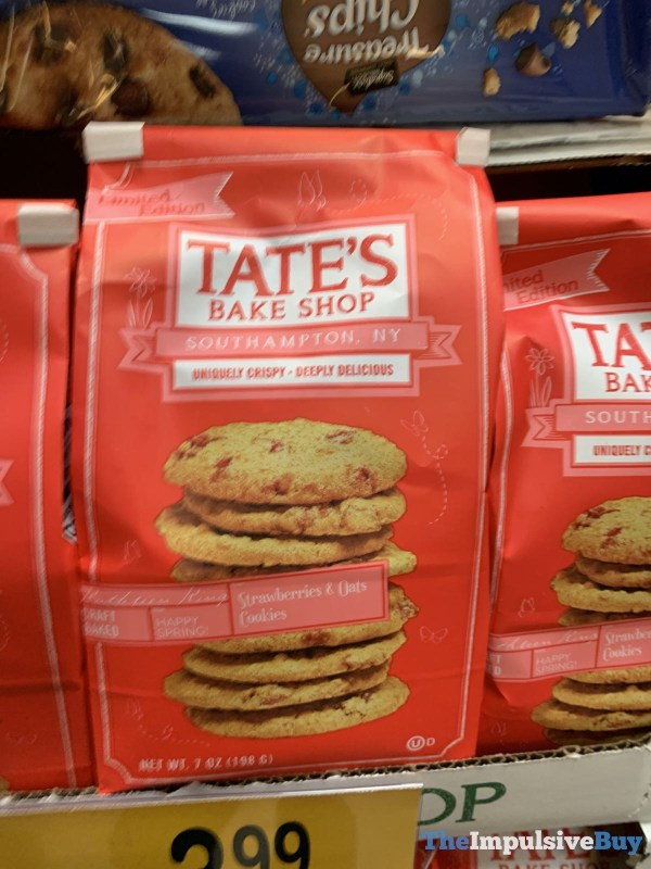 Tate s Bake Shop Limited Edition Strawberries  Oats Cookies