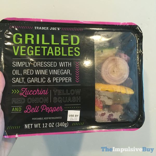 Trader Joe s Grilled Vegetables Simply Dressed with Oil Red Wine Vinegar Salt Garlic  Pepper