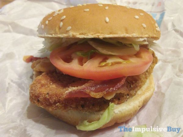 Burger King BLT Chicken Jr Sandwich